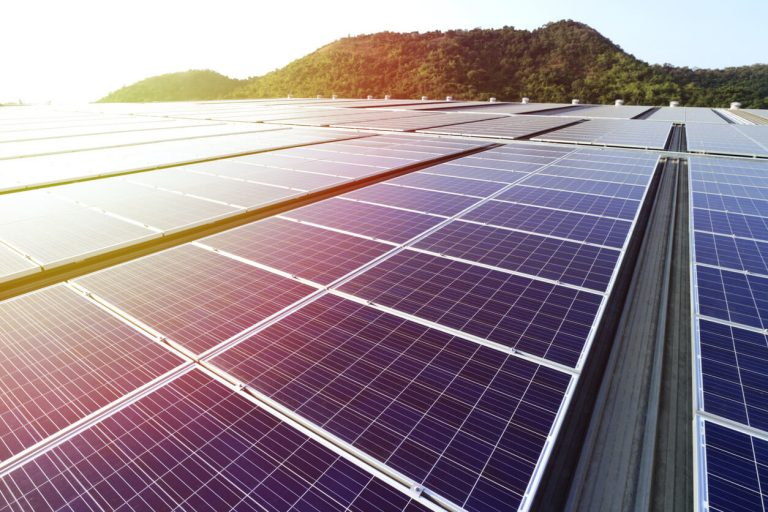 Commercial solar panels installation slider image